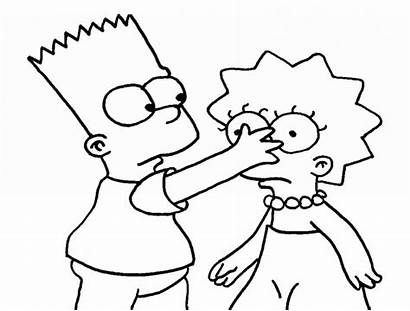 Coloring Cartoon Pages Simpsons