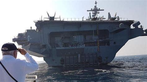 le plus grand port de le plus grand navire de guerre du monde accoste au large de ha 239 fa the times of isra 235 l