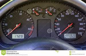 Instrument Panel On Modern Car Dashboard Stock Image