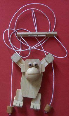 wooden rope climbing monkey toy making