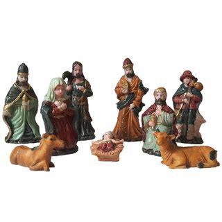 jesus christmas crib statue set buy buy 9 nativity figurine set for decoration 3 5 inches small crib