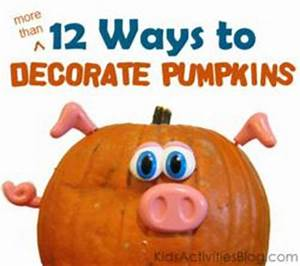 Pumpkin Decorating Ideas for No Carve Pumpkins Without a