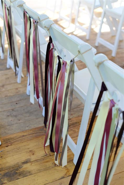 Chair Decor Decorate Chairs With Simple Lengths Of Ribbon