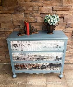 Hometalk Upcycled Dresser with French Decal