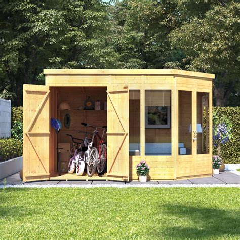 shed roof house billyoh penton corner summerhouse with side store wooden