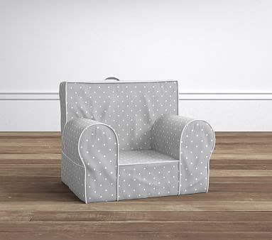 ruffle anywhere chair slipcover only gray pin dot my anywhere chair slipcover only