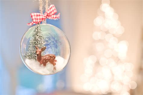 domestic fashionista diy snow globe inspired ornaments