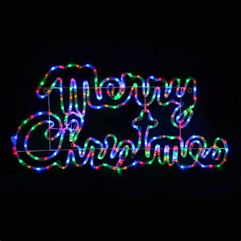 merry christmas lighted sign large multi led light merry christmas sign decoration