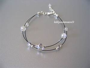 bracelet mariage noir perles strass With bijoux mariage strass