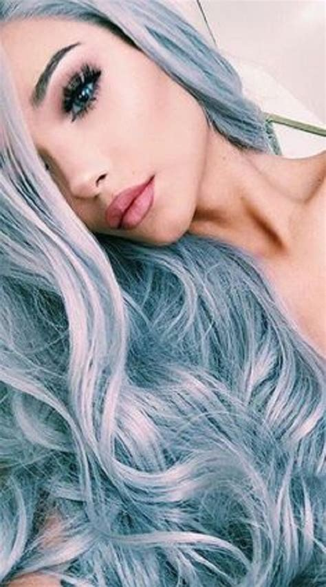 Women Grey Blue Hair Color Trends For All Season And All