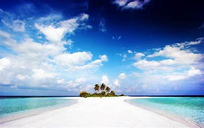 Tropical Beach Nature Landscape Island Sea Sand
