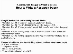 The Process Of Writing A Research Paper  U2013 Logan Square