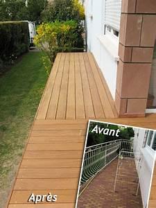 terrasse bois et dalle wrastecom With plan de travail exterieur bois 13 photos terrasse bois jouplast solutions constructives