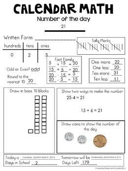 calendar math google drive  printables