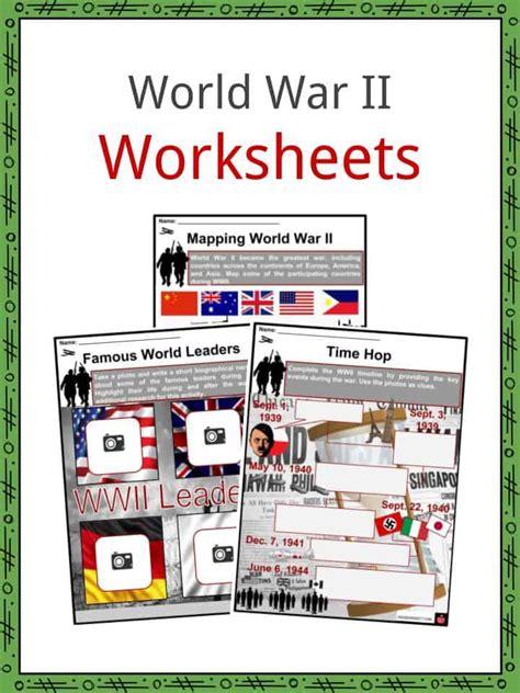 world war ii ww facts worksheets deaths history