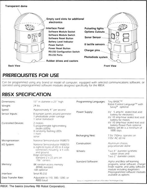 1982 - RB5X the Intelligent Robot - Joseph Bosworth