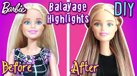 How To Make Balayage Highlights With Barbie Dolls Hair
