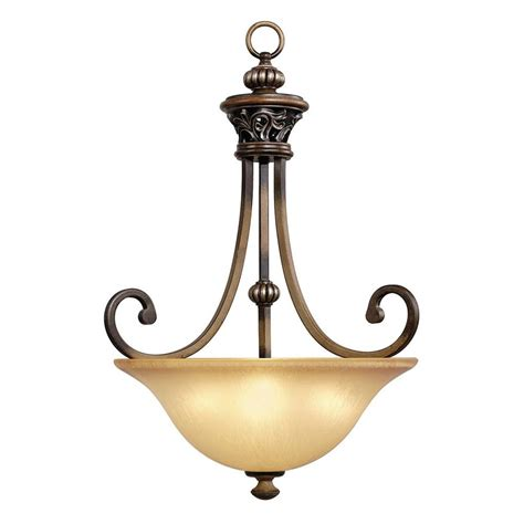 picture lighting home depot hton bay 3 light caffe patina bowl pendant 17010 the home depot