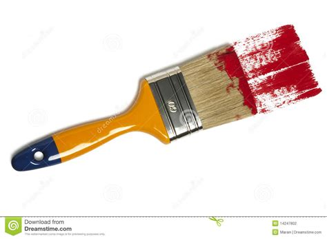 paint brush with color painting stock photography image