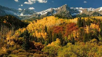 Trees Autumn Sky Fall Landscape Pine Rocky