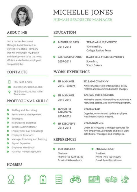hr resume format template   word  format