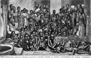 A group of slaves rescued by the British Navy about 200 ...