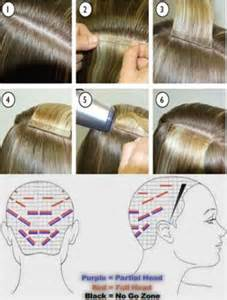 Tape Hair Extension Placement