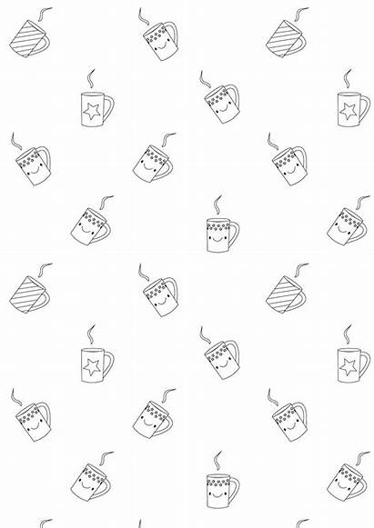 Coloring Printable Coffee Stickers Pages Meinlilapark Paper