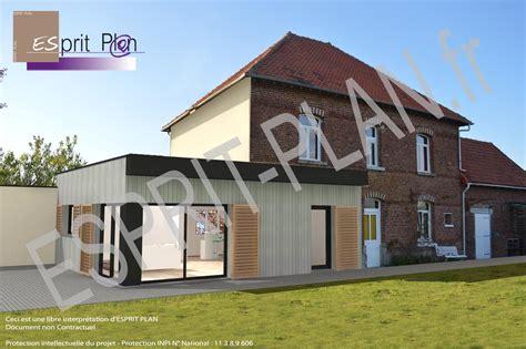 cuisine et couleurs arras plan architecte agrandissement maison