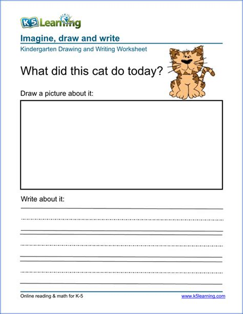 Free Drawing And Writing Worksheets For Preschool & Kindergarten  K5 Learning