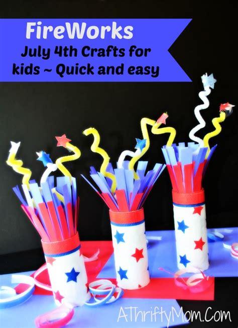 fireworks july  crafts  kids quick  easy