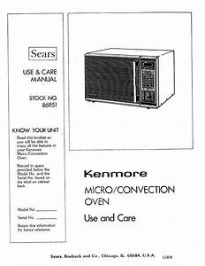 Kenmore Microwave Oven User Manual