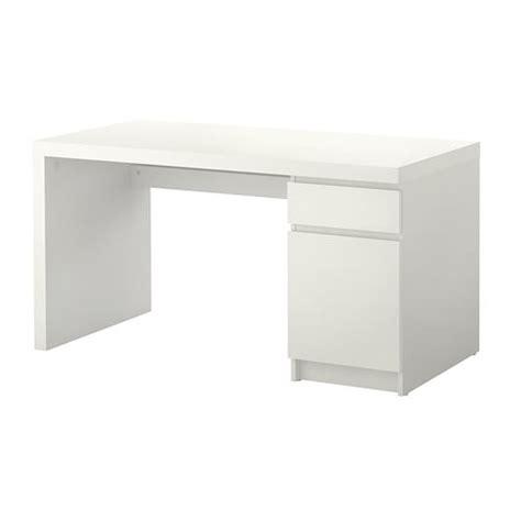 bureaux blanc laqué malm scrivania bianco ikea