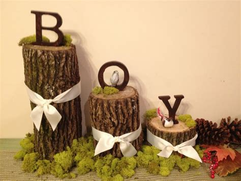 woodland baby showers  pinterest rustic baby showers