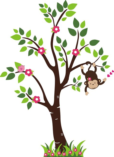 Tree Wallpaper Clipart by Monkey Hanging From A Tree Cliparts Co