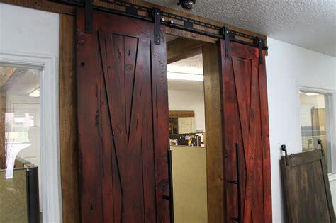 distressed barn door distressed doors distressed white knotty alder door
