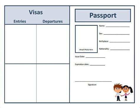 Passport Picture Template by Passport Template Free Premium Templates