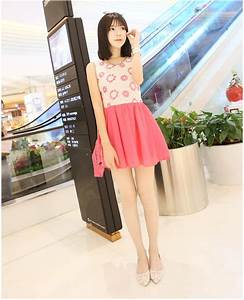 Lovely and sweet look with the Summer Pink Dress Korean ...