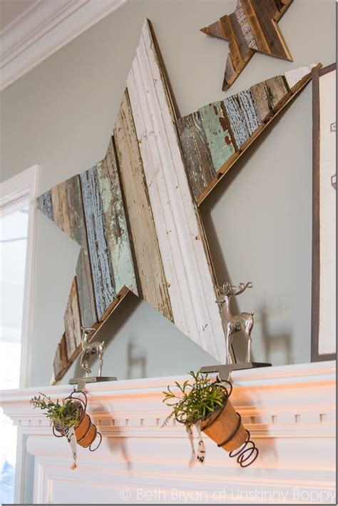 how to diy a wooden for the mantel