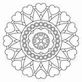 Coloring Rangoli Designs Abstract Pages Printable Mandala sketch template