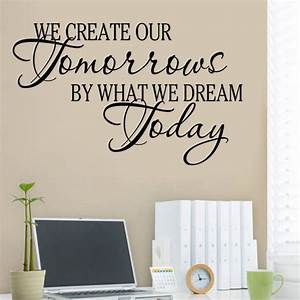 Quote word decal vinyl diy home room decor art wall
