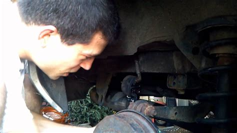 remove rubber exhaust hangers youtube