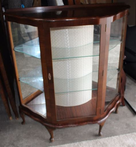 Mid Century Cabinet Ebay by Antique Mid Century Glass Curio Cabinet Ebay