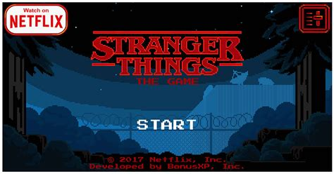 play netflixs stranger  game