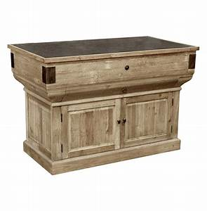 Oleron French Country Reclaimed Wood Rustic Kitchen Island