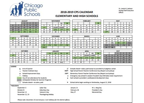 cps school calendar chicago school options