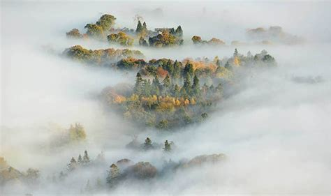Extreme Fog Blankets Cumbrian Valley Following Cold