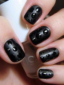 Easy simple black nail art designs supplies