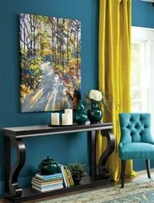 Papier Peint Bleu Canard Et Jaune by 1001 Id 233 Es Cr 233 Er Une D 233 Co En Bleu Et Jaune Conviviale