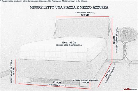 materasso 1 piazza e mezzo misure dimensioni letti singoli letto imbottito singolo venezia